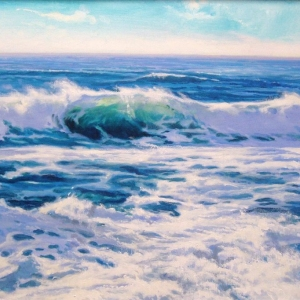 WAVE CREST. Breakers Hotel, Florida 2005-2006 Seascape paintings 24″x36″