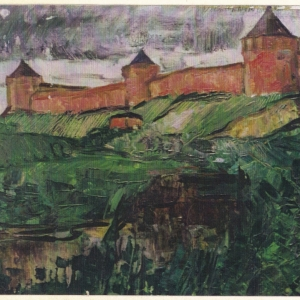 MONASRERY in SUZDAL. 20″x24″ Oil on paper
