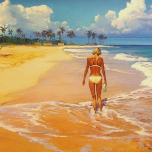 SHALLOW. The Breakers Hotel, Florida 2005-2006 Seascape paintings 24″x36″