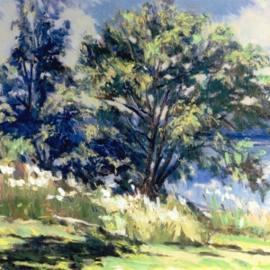 SUNNY on KENT LAKE. 20″x 24″ Oil on canvas