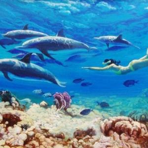 NAUTILUS The Breakers Hotel, Florida 2005-2006 Seascape paintings 24″x36″