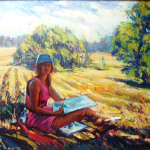 PLAIN AIR. 24″x 30″ Oil on canvas