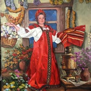 Russian folk dance. oil 40x30