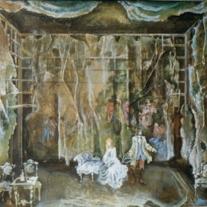 Treachery and love by Shchiller Stage design. Grozny Theater